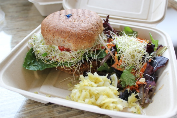 Leaf Cuisine Vegan Victory Burger