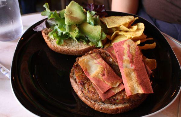 Gypsy Den Veggie Burger