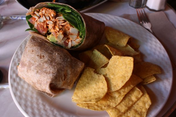 Gypsy Den Chipotle and Avocado Vegan Chicken Wrap
