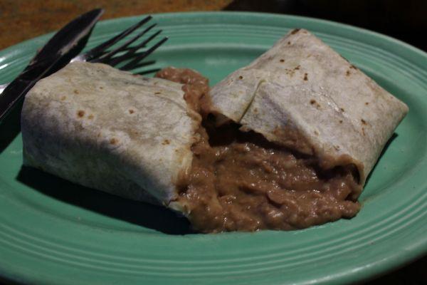 Cuca's Bean Burrito