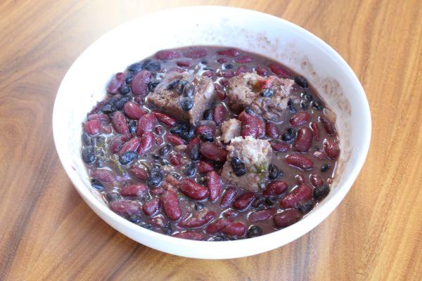 Gobble Green Seitan and Bean Stew