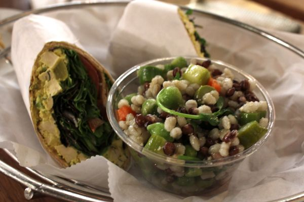 M Cafe Tofu Dill Salad Wrap