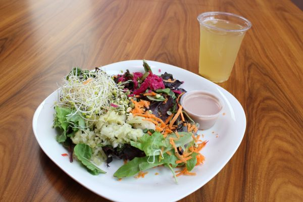 Leaf Cuisine Probiotic Salad and Kombucha