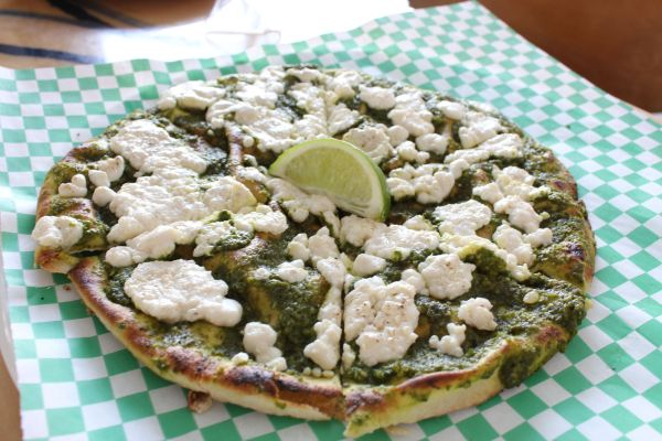 Green Greenza Flatbread Pizza