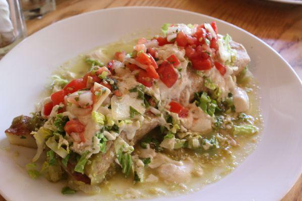 Body Cafe Green Chile Burrito
