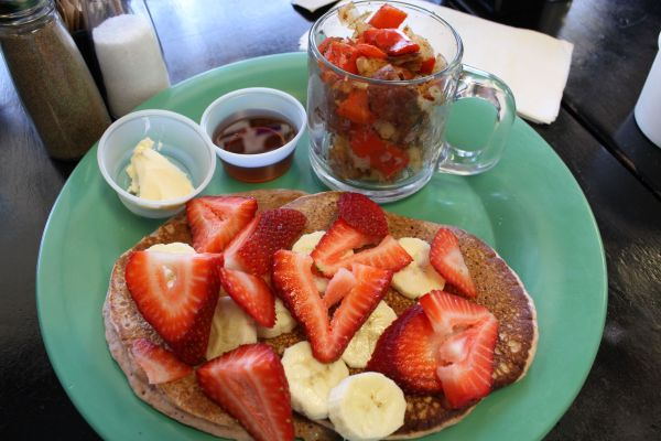 The Secret Spot Vegan Pancake with Fruit