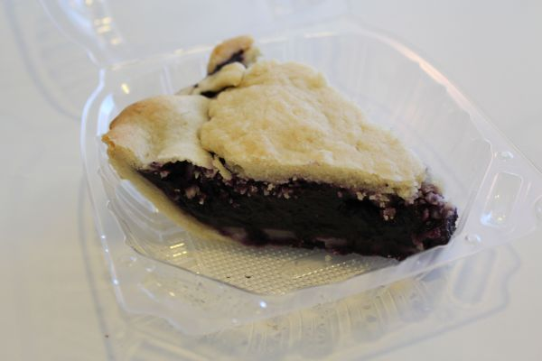 Loving Hut Blueberry Pie