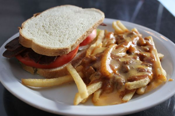 Doomie's BLT with Chili Cheese Fries