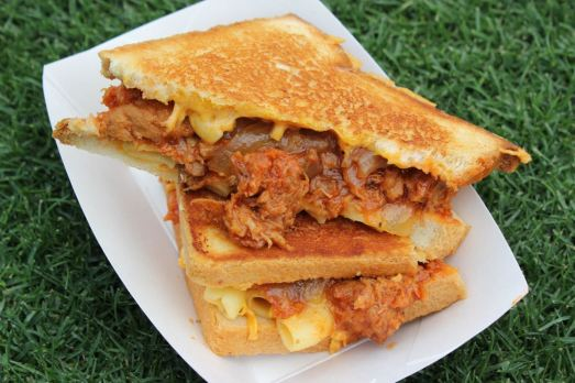 Grilled Cheese Truck Cheesy Mac and Rib Melt