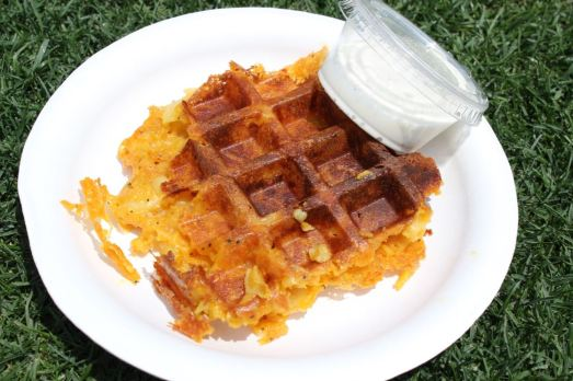 Clara's Cakes Mac and Cheese Waffle