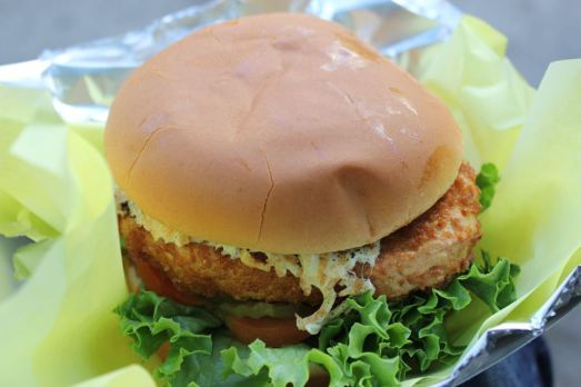 Go Vegan Crispy Schnitzel Cheese Burger