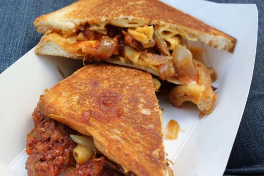 Grilled Cheese Truck Mac and Rib Melt