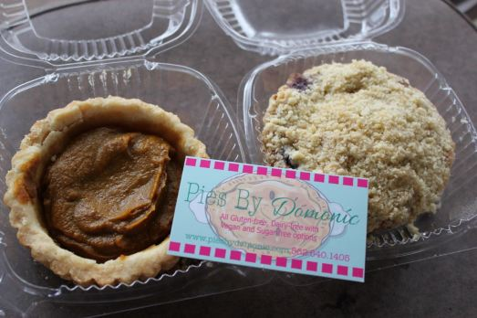 Pies by Domonic Pumpkin Pie and Blueberry Crumble Pie